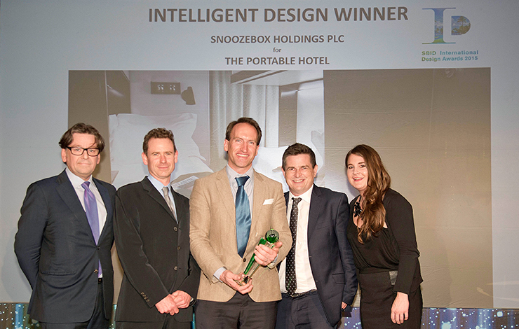 Snoozebox hotel wins Intelligent Design Award